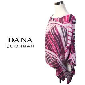 Dana Buchman Blouse Pink Sheer Overlay Sz M NWT